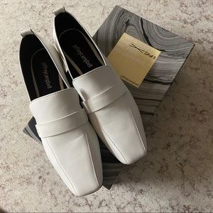 JEFFREY CAMPBELL white moritz loafers SIZE 8